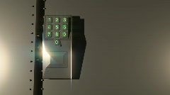 T192 keypad lock entry way entrance unlock door safe white bg Stock Footage