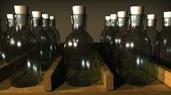 T192 rx bottles old timey glass bottle mini Stock Footage