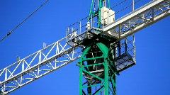 Building crane on sky background Stock Footage