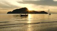 Island Sunrise Stock Footage