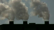 Steam From Stacks Stock Footage