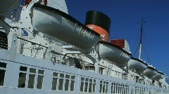 Queen Mary Lifeboats Stock Footage