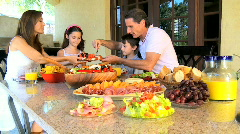 Family Healthy Meal Choice   Stock Footage