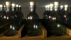 T192 brown medicine bottles rx bottle Stock Footage