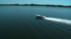 Aerial Power Boat T Lake - stock footage