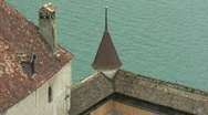 Stock Video Footage of Roof of the Chillon pull back