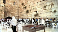 Stock Video Footage of Western Wall + Sound 2