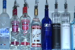 Sequence Of Liqueur bottles - stock footage