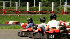 Karting. Starting line Stock Footage