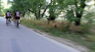 Cyclists 3 Stock Footage