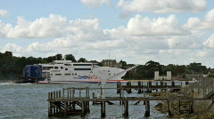 Timelapse - Sandbanks condor ferries Stock Footage