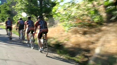 Cyclists 5 Stock Footage
