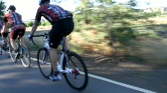 Cyclists 7 Stock Footage