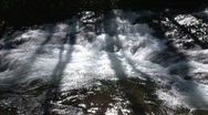 Stock Video Footage of Shadows of a tree on a mountain stream