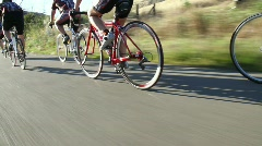 Professional Cyclists Tour Stock Footage