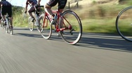 Stock Video Footage of Professional Cyclists Tour