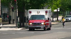 Medical - Ambulance in Washington DC Stock Footage
