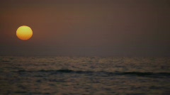 HD1080i Sunset on the Beach in Alghero/Italy (+Sound) Stock Footage