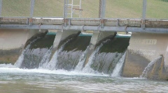 Flowing dam - stock footage