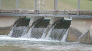 Flowing dam Stock Footage