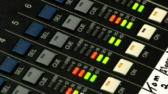 Audio Mixer Board 1685 - stock footage