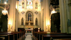 Inside a church + Sound Stock Footage