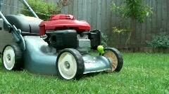 Mower Cutting Grass Stock Footage