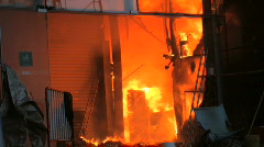 Central Department Store Burns in Flames Terror Bomb Blast Attack ISIS Bangkok Stock Footage