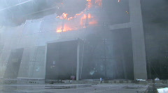 Terror Attack Department Store Burning Explosion War Urban Terrorist Blast  - stock footage