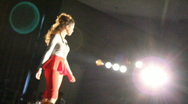 Model Does Turn at End of Runway Stock Footage