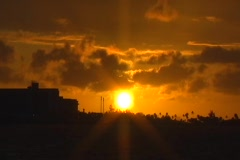 Puerto Rico - Sunset at Condado Beach - stock footage