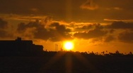Stock Video Footage of Puerto Rico - Sunset at Condado Beach