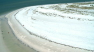 Stock Video Footage of Aerial White Sandy Beach