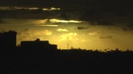 Stock Video Footage of Puerto Rico - Golden Clouds at Sunset