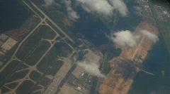 Flight Over Frankfurt Airport Stock Footage