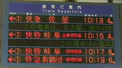 Japanese Train Station Sign Time Lapse Stock Footage