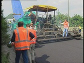 Road construction work Stock Footage