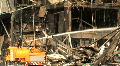 Terror Bombing Firefighters Hose FIREMEN Spay Water Blown Up Building Emergency HD Footage