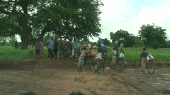 Malawi: african people fixing road after tropical storm 3 Stock Footage
