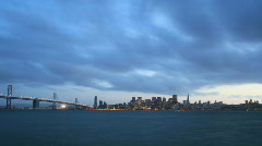 San Francisco sunset timelapse Stock Footage
