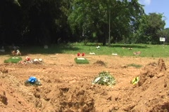 Open Grave awaiting for Coffin - Burial Casket 2 - stock footage