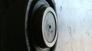 Turning machinery wheel Stock Footage