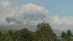 A beautiful time lapse of the Virunga volcanoes on the Rwanda Congo border. - stock footage