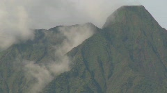 Nice time lapse of clouds and mist on the Virunga volcano chain in Rwanda. - stock footage