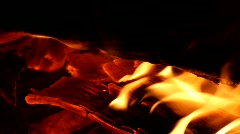 Flaming Logs Stock Footage