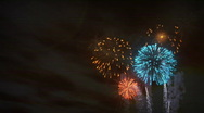 Stock Video Footage of (1193) Fireworks Celebration Sunset Clouds Family Summer Entertainment Americ