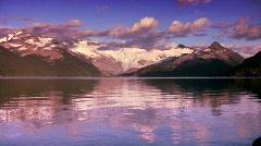 Garibaldi Lake evening Stock Footage