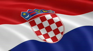 Stock Video Footage of Croatia FlagInTheWind
