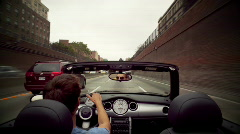 POV convertible driving Stock Footage