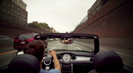 Stock Video Footage of POV convertible driving